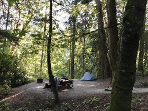 Bamberton Provincial Park campsite