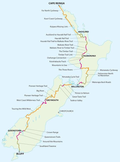 Tour Aotearoa route