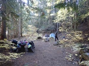 Roaring Creek campsite